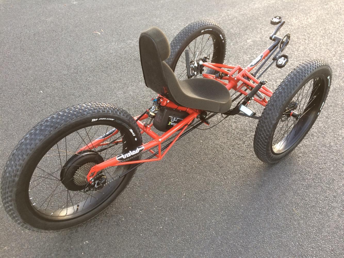 Trisled Full Suspension Monster Fat E Trike Trisled